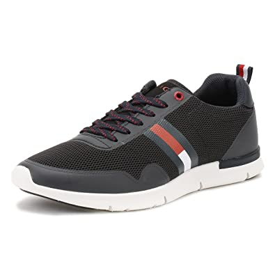 ea79102887e3 Tommy Hilfiger Mens Midnight Black Tobias 20C Trainers-UK 10.5 ...