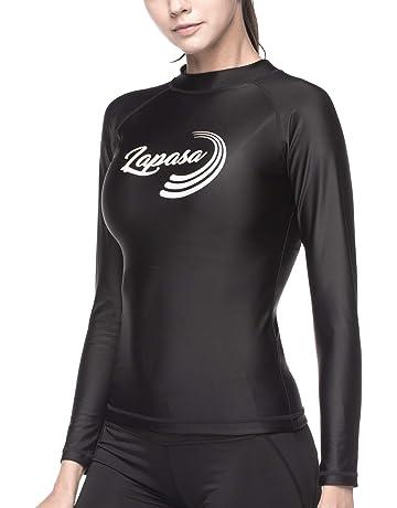 LAPASA Camiseta Deportiva de Manga Larga para Mujer con Protección Solar UPF50 Filtro de protección UV