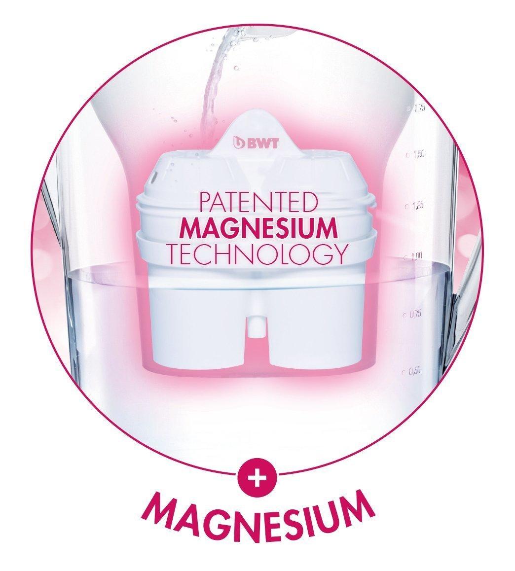 BWT 814336 Pack 6 filtros Jarra de Agua con magnesio Longlife mg2+, Polímeros Plásticos, Blanco, 6 Meses: Amazon.es: Hogar