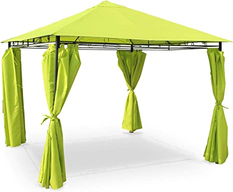 Alices Garden - Pergola con toldo 3x3m - Verde - TOLOSA
