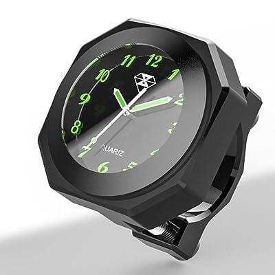 "Perfectech Waterproof 7/8""- 1 1/8"" Handlebar Luminous Dial Motorcycle Clock for Dirt Bike Motocross Yamaha Kawasaki Honda Suzuki Harley Davidson (Black): Automotive"