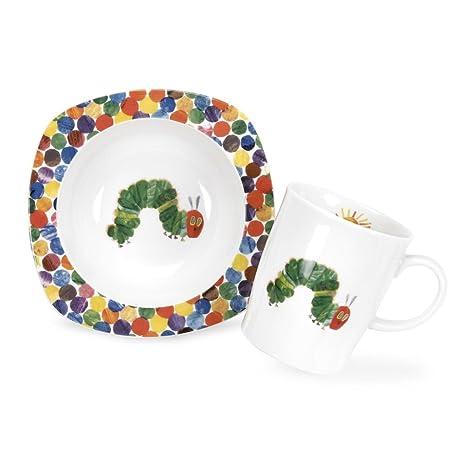 Amazon.com | Portmeirion A Very Hungry Caterpillar Bowl and Mug Set ...