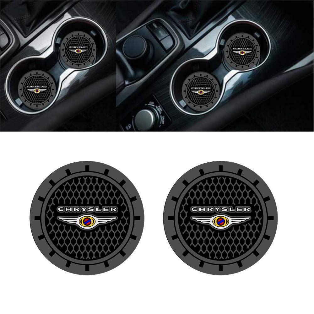 Chevrolet Auto sport 2.75 Inch Diameter Oval Tough Car Logo Vehicle Travel Auto Cup Holder Insert Coaster Can 2 Pcs Pack