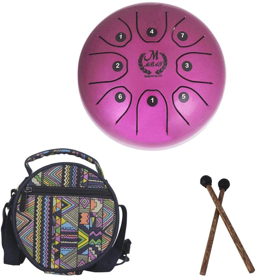 5.5 Inch Handpan Tongue Drum Gold Perfect Quality Chakra Percussion Instrument Hand Pan Tank Drum with Travel Bag and Mallets