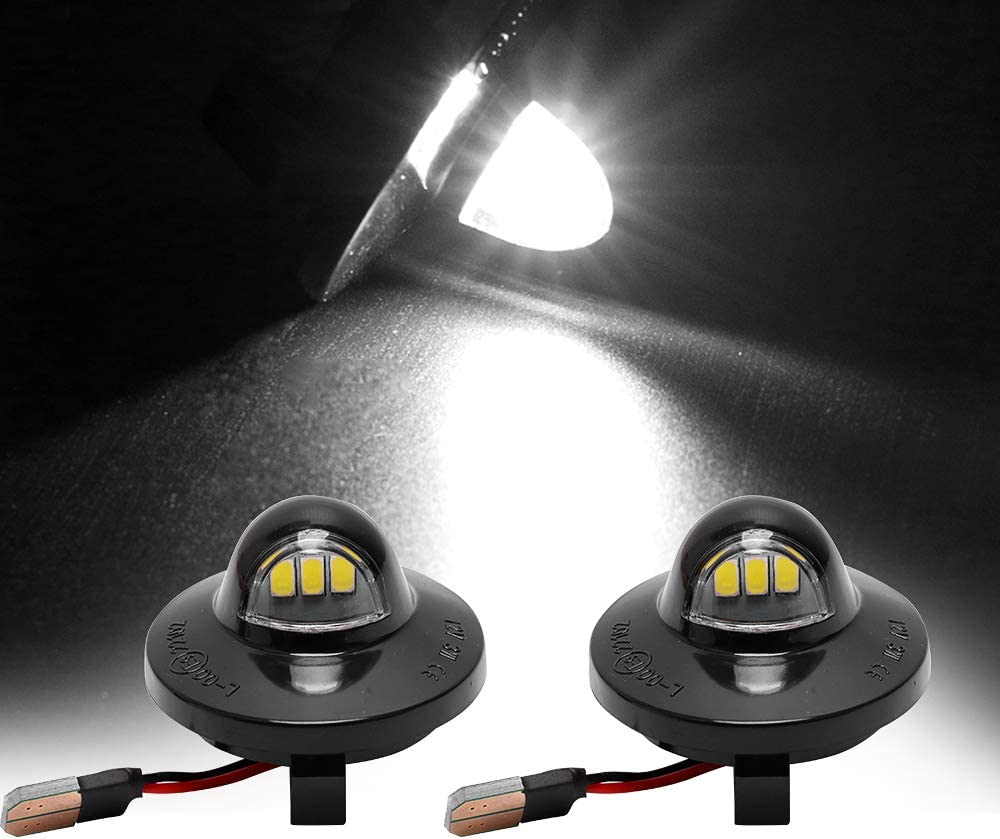 VOFONO 1 Pair LED License Plate Light for 1990-2014 Ford F-150 Pickup Truck F250 F350 BRIGHT SMD