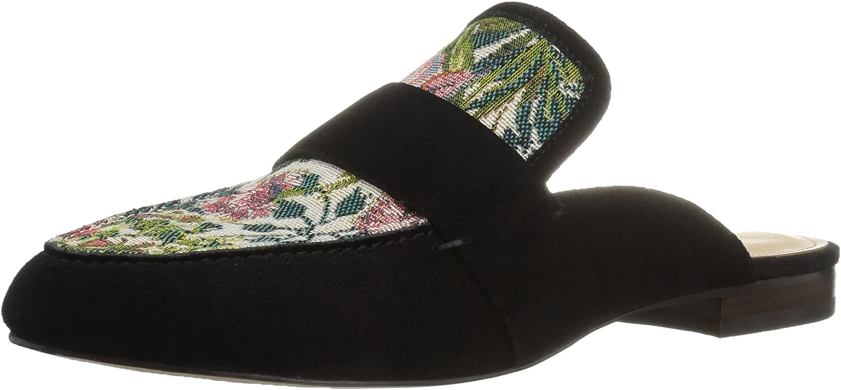 15843dc7f3823 Amazon Brand - The Fix Women's French Floral Tapestry Slide Slip-on Loafer,  Black