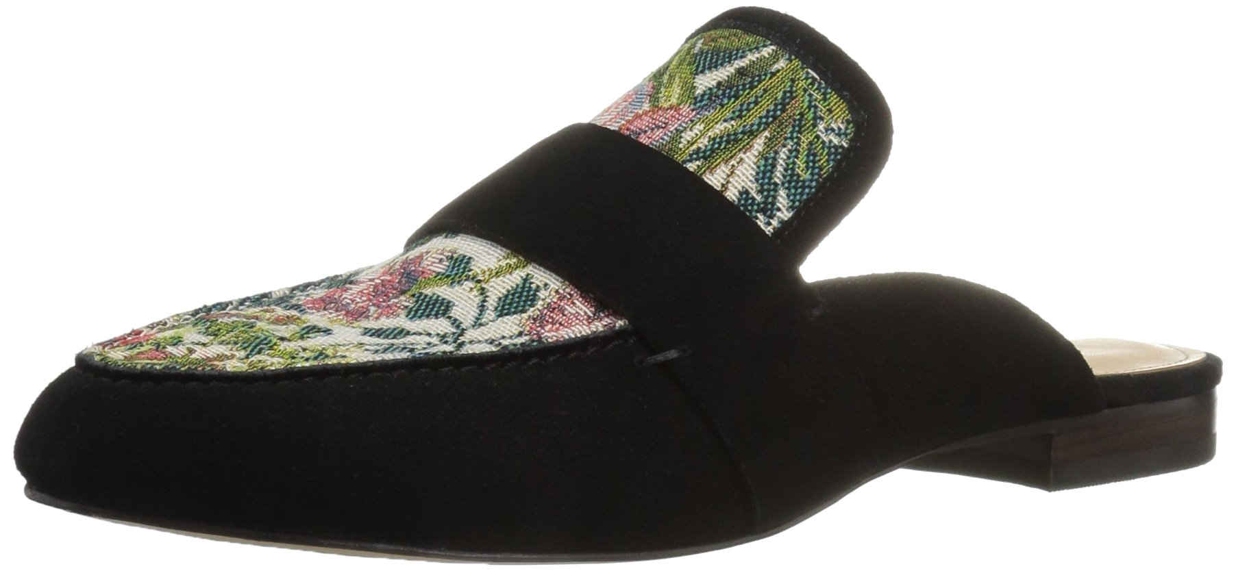 The Fix Women's French Floral Tapestry Slide Slip-on Loafer, Black/Multi, 9.5 B US