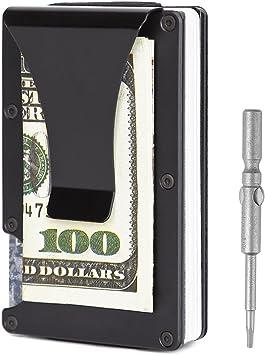 Teemzone Cartera Tarjetero Hombre de Fibra de Carbono con RFID Bloqueo también Monedero de Carteras y tarjeteros para Tarjetas de Crédito: Amazon.es: Equipaje