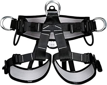 Yundxi Arnés de escalada superior del cuerpo/cinturón de seguridad todos los arneses superior del pecho emparejados escalada en roca equipo de rappel ...
