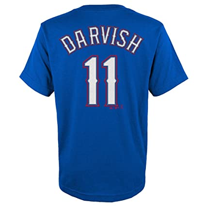 ab8a7d99099 Image Unavailable. Image not available for. Color  Majestic Yu Darvish  11 Texas  Rangers Youth Name   Number Player T-Shirt Blue