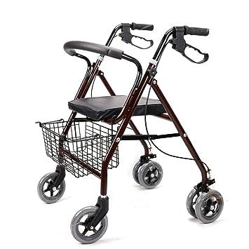 RANZIX - Andador ligero para personas mayores de 4 ruedas, incluye ...