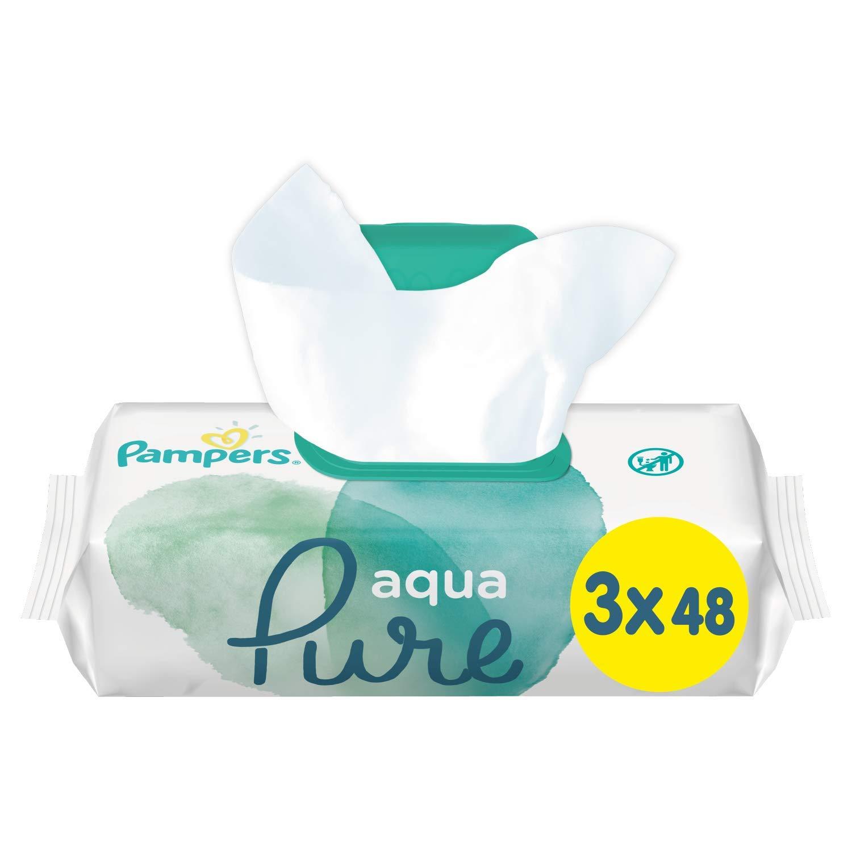 Pampers 81691055 Aqua Pure Baby Feuchtt/ücher wei/ß