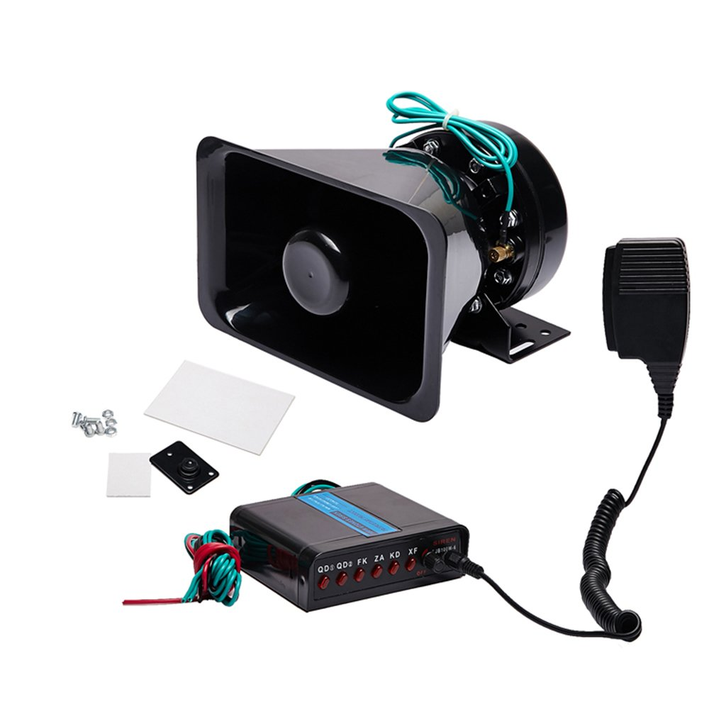 sound system kit. ediors 100w loud 12v car horn siren kit pa system 7 tone police fire fighter truck: amazon.ca: cell phones \u0026 accessories sound h