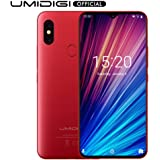 "UMIDIGI F1 Play with 64GB Memory Android 9.0 48MP+8MP+16MP Cameras 5150mAh 6.3"" FHD+ Global Version Smartphone Dual 4G LTE Cell Phone(Unlocked) (Red)"