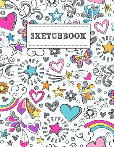 Sketchbook: Sketchy Doodle Pattern, 140 Page Blank Drawing Book To Sketch Your Style (8.5x11)