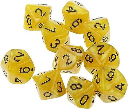 Dados acrílicos Dados opacos Juegos Dungeons Dragons Dados múltiples Dados Juego de Mesa Juego de Escritorio (Punto Amarillo Aceite Negro) ESjasnyfall: Amazon.es: Juguetes y juegos