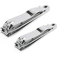 Iindes 2 PCS cortauñas de acero inoxidable cortauñas