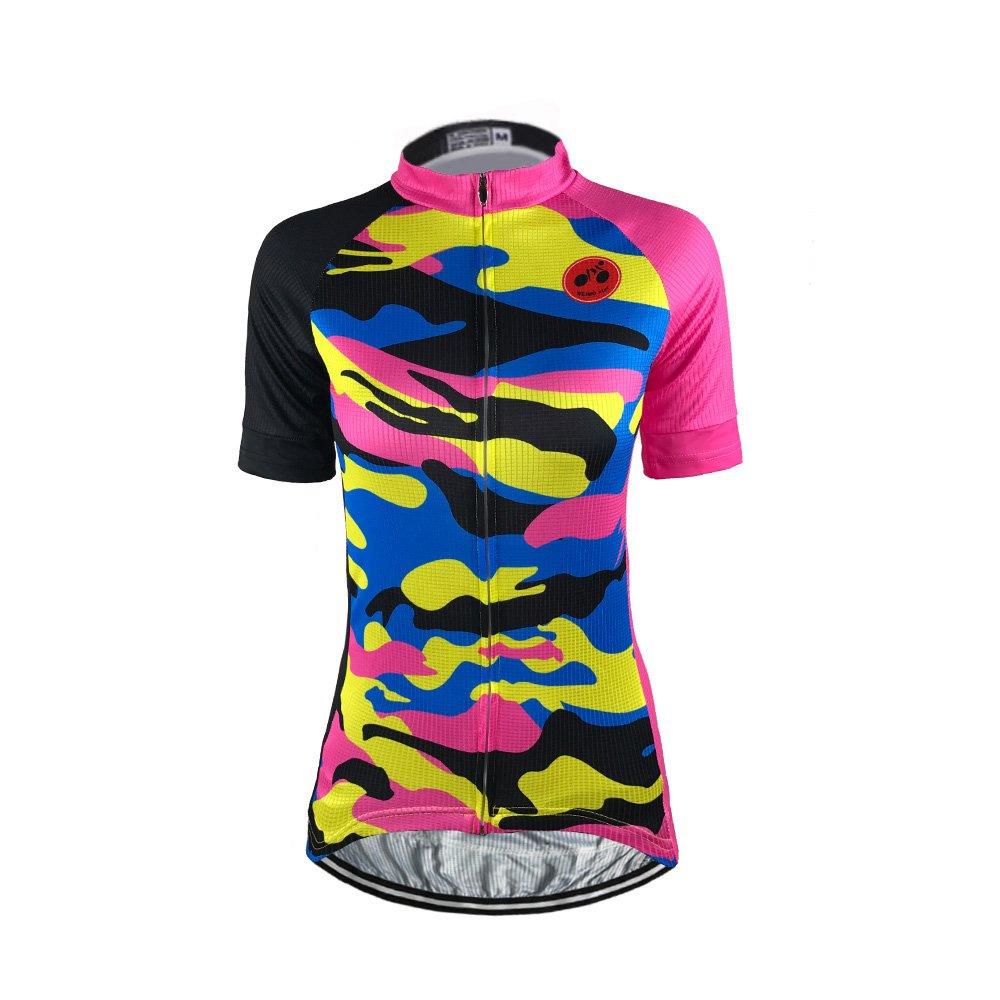 Amazon.com   Weimostar Women s Short Sleeve Cycling Jersey Top MTB  Sportswear   Sports   Outdoors cdee68e86