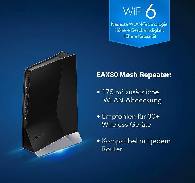 Netgear Nighthawk Eax80 Wifi 6 Wlan Mesh Repeater Computers Accessories