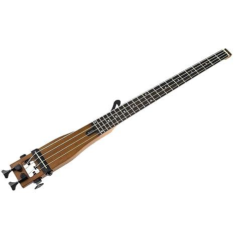 anygig Guitarra acústica Bass Guitarra Madera Color Portabel ...