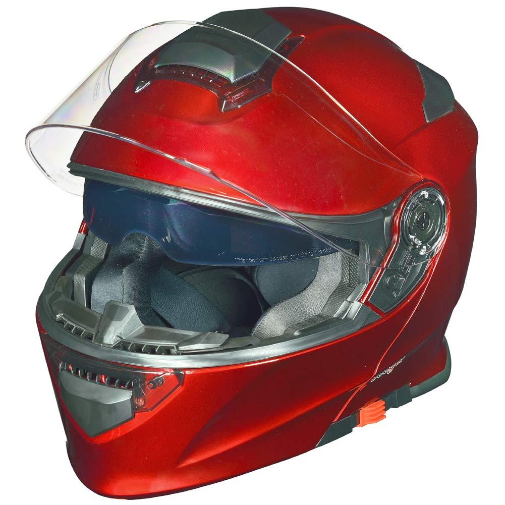 Gr/ö/ße:L Farbe:Matt Schwarz 59-60 RS-982 Klapphelm Motorradhelm Conzept Motorrad Modular Roller Helm rueger