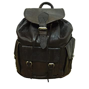 07f70d907055 Berber Leather Large Unisex Rucksack Brown  Amazon.co.uk  Luggage