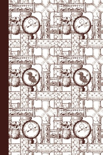 Journal: Steampunk Duck (Dark Red) 6x9 - DOT JOURNAL - Journal with dotted pages (Animals Dot Journal Series)