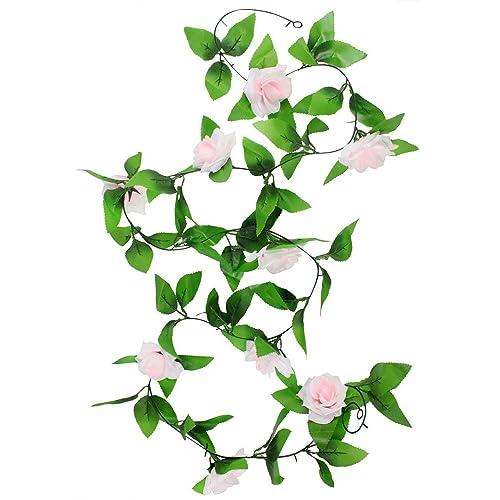 Artificial flowers bulk amazon artificial rose garland silk flower vine for home wedding garden decoration mightylinksfo