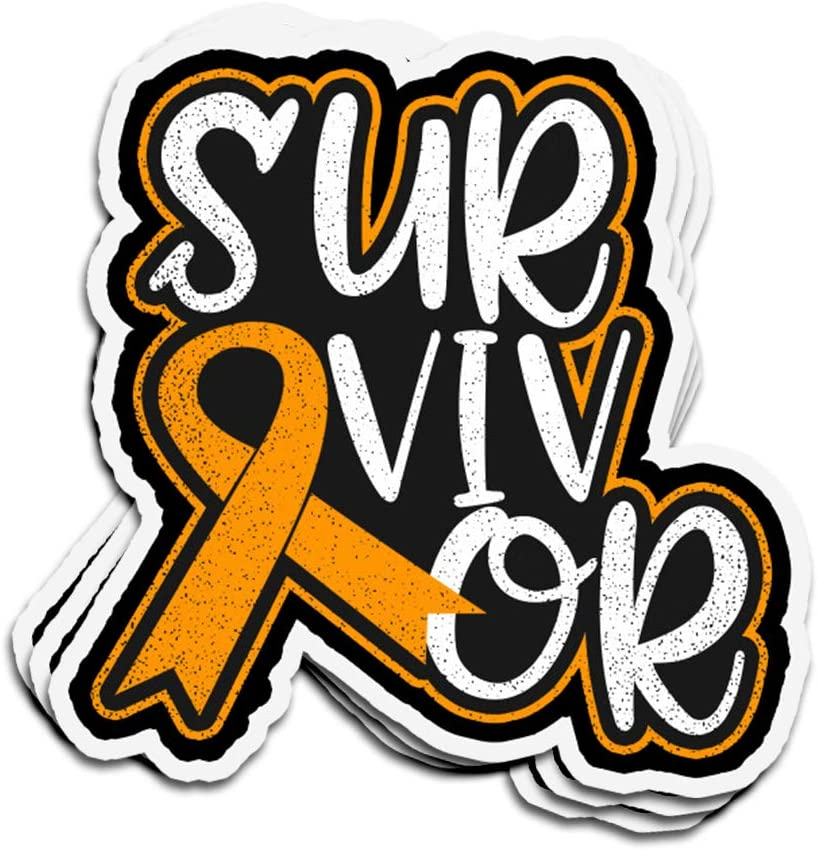 3 PCs Stickers Leukemia Survivor Cancer Disease Awareness Cancer Disease Awareness 4 × 3 Inch Die-Cut Decals for Laptop Window
