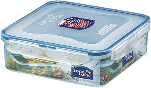 LOCK & LOCK Airtight Square Food Storage Container 54.10-oz / 6.76-cup