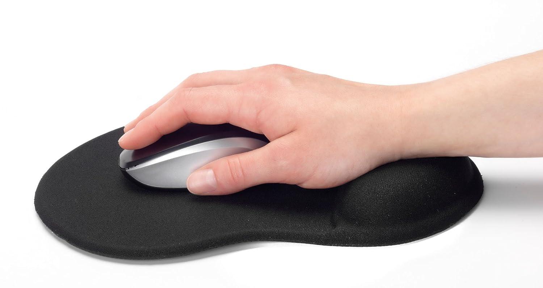 Ednet Mouse Pad con Hand Pad, Nero 64020 Maus Pad + Handballenauflage ednet schw.