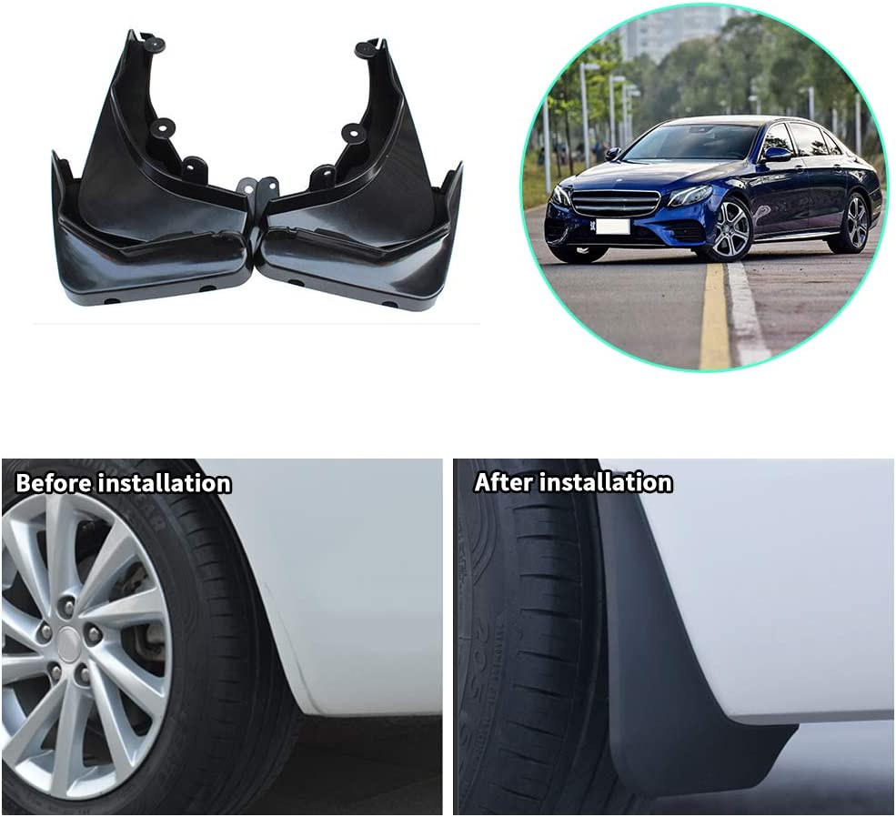 Upgraded Car Mud Flaps Mudguards for BENZ Smart Four door 2016-2017 Front Rear Splash Guards Car Fender Styling /& Body Fittings Black 4Pcs