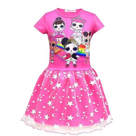 99e9dbed1205 Amazon.com  MCJS Girls Dress for L.O.L Doll Surprised.Children ...