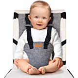 liuliuby Travel Harness Seat – Portable Safety Harness Chair Accessory for Baby & Toddler - Cloth Portable High Chair for Tra