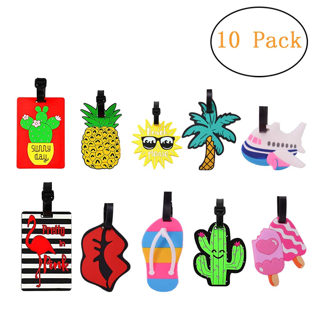 Luggage Tags Luggage Tages for Women Luggage Tags for Kids with Genuine Strap Flexible Name ID Labels for Suitcase Baggage