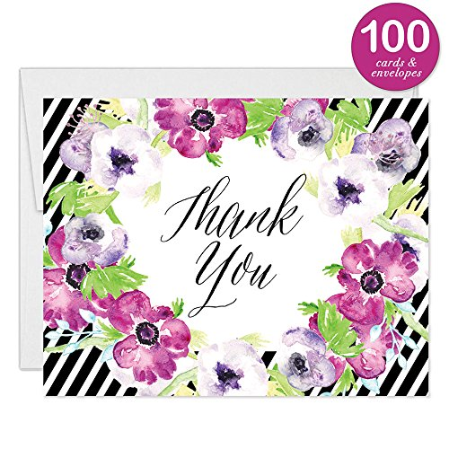 Baby Shower Invitations ( 100 ) & Matching Thank You Cards ( 100 ), Envelopes Included, Large Gathering Mom-to-Be Party Boy Girl Neutral Fill-in Guest Invites & Folded Thank You Notes Best Value Set by Digibuddha (Image #4)