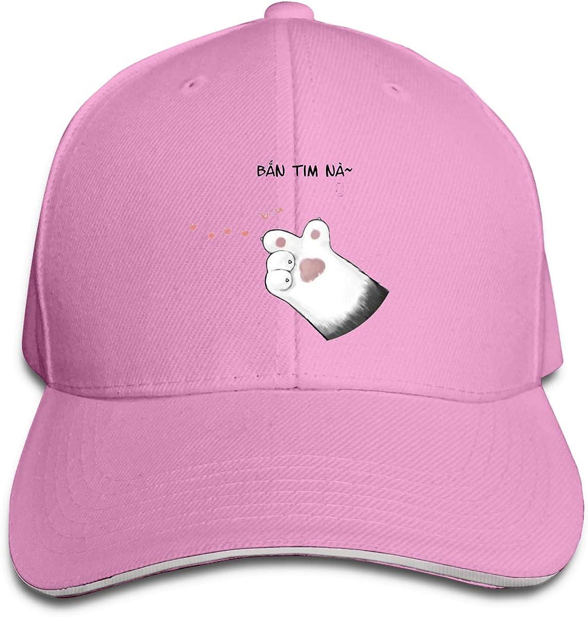 Cat Launches Love Classic Adjustable Cotton Baseball Caps Trucker Driver Hat Outdoor Cap Pink