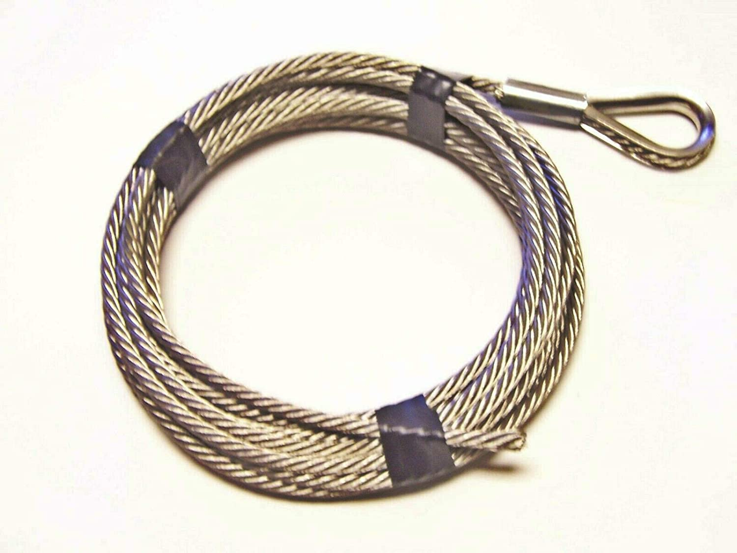 1/4 inch x 25 ft Stainless Steel Winch Cable 7x19 Core
