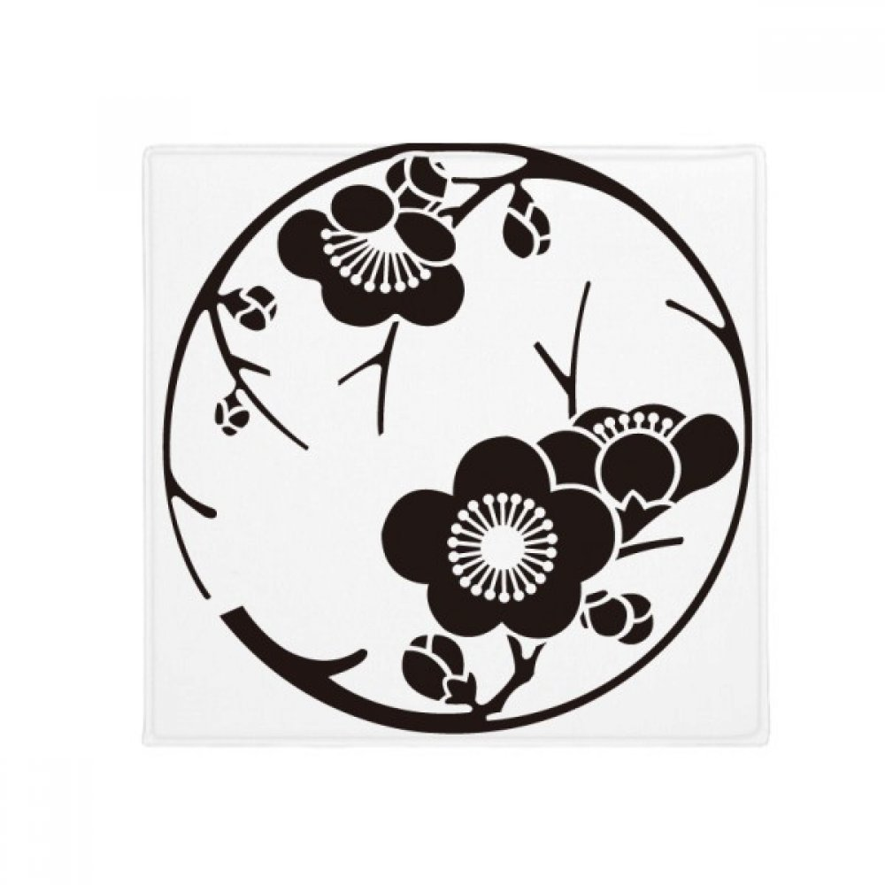 DIYthinker Japan Culture Cute Black Sakura Anti-Slip Floor Pet Mat Square Home Kitchen Door 80Cm Gift