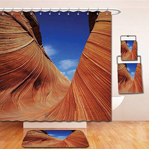 Beshowereb Bath Suit: Showercurtain Bathrug Bathtowel Handtowel Americana Landscape Decor Sandstone Rock Steep Canyon Toned Formations in Sedona Arizona Blue - Arizona Macy's