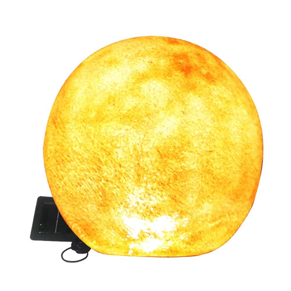 シックな樹脂の石の形の太陽光、庭の装飾景観ライト、35センチメートル暖かい白い月の光、防水LED B07SMTDFVT