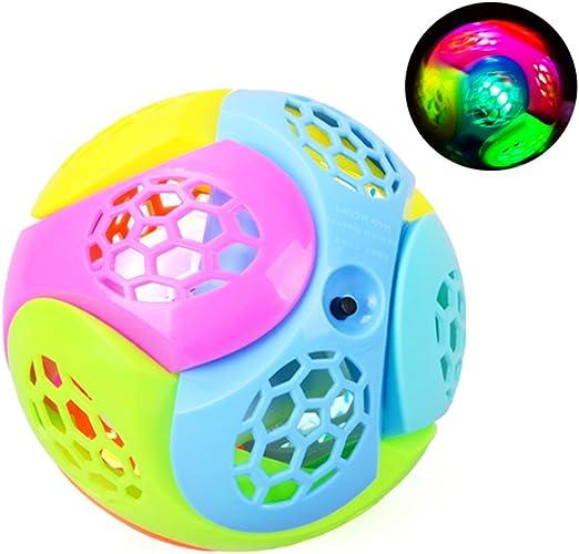 houzhi - Pelota de Saltar con luz LED, luz LED Intermitente ...