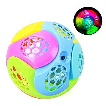Newin Star Pelotas para Bebés,Bola de luz LED de plástico Bouncing ...