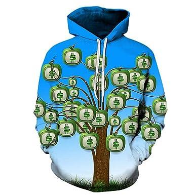 Money Tree 3D Hoodies Hombres Mujeres Otoño Invierno Sudadera con ...