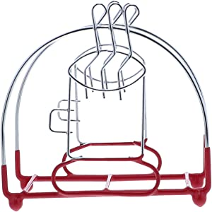 Wire Napkin Holder With Coffee Cup Kitchen Décor (Red)