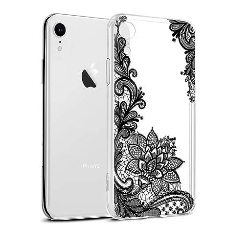 coque iphone xr motif noir et blanc
