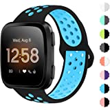 NANW Bands Compatible with Fitbit Versa/Versa 2/Versa Lite Small Large, Soft Silicone Replacement Band for Versa/Versa 2…