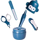 Baby Nail Kit Safety First - Baby Nail Care Grooming Kit with Cute Case, Baby Nail Set Clippers Kit Scissor Nail File…