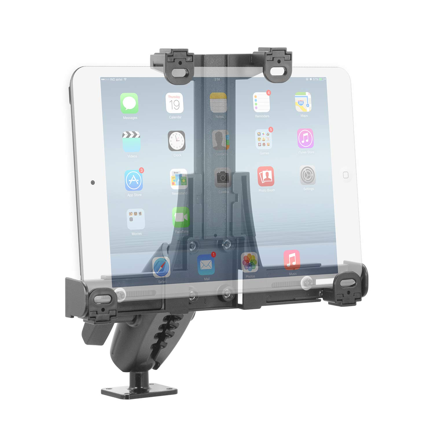 iBOLT TabDock Lock'n Dock 38mm (1.5 inch) Bizmount- Heavy Duty Industrial Metal Locking Drill Base Mount for All 7'' - 10'' Tablets- for Commercial Use Trucks/Vehicles : Great for Telematics and Fleets by iBOLT.co