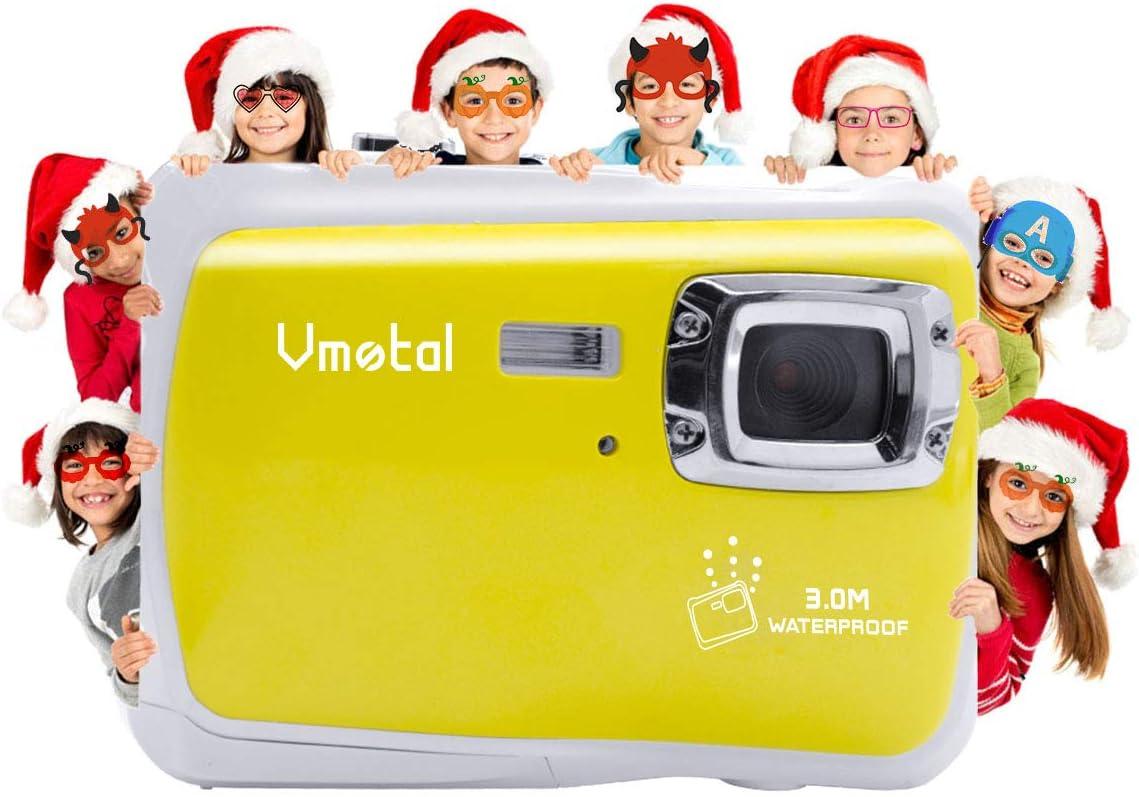 Kids Waterproof Camera, Vmotal Digital Camera for Kids 2.0 Inch TFT Display Children Kids Digital Camera (Yellow)
